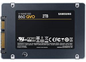 """2TB Samsung MZ-76Q2T0BW 860 QVO 2.5"""" SATA III SSD"""