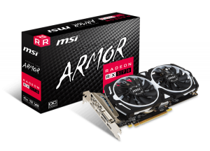 MSI RADEON RX570 ARMOR 4G OC HDMI*1, DVI-D*1, DP*3