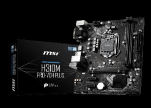 MSI H310M PRO-VDH PLUS uATX/2*DDR4/DSUB/DVI/HDMI/USB3.0. Motherboard